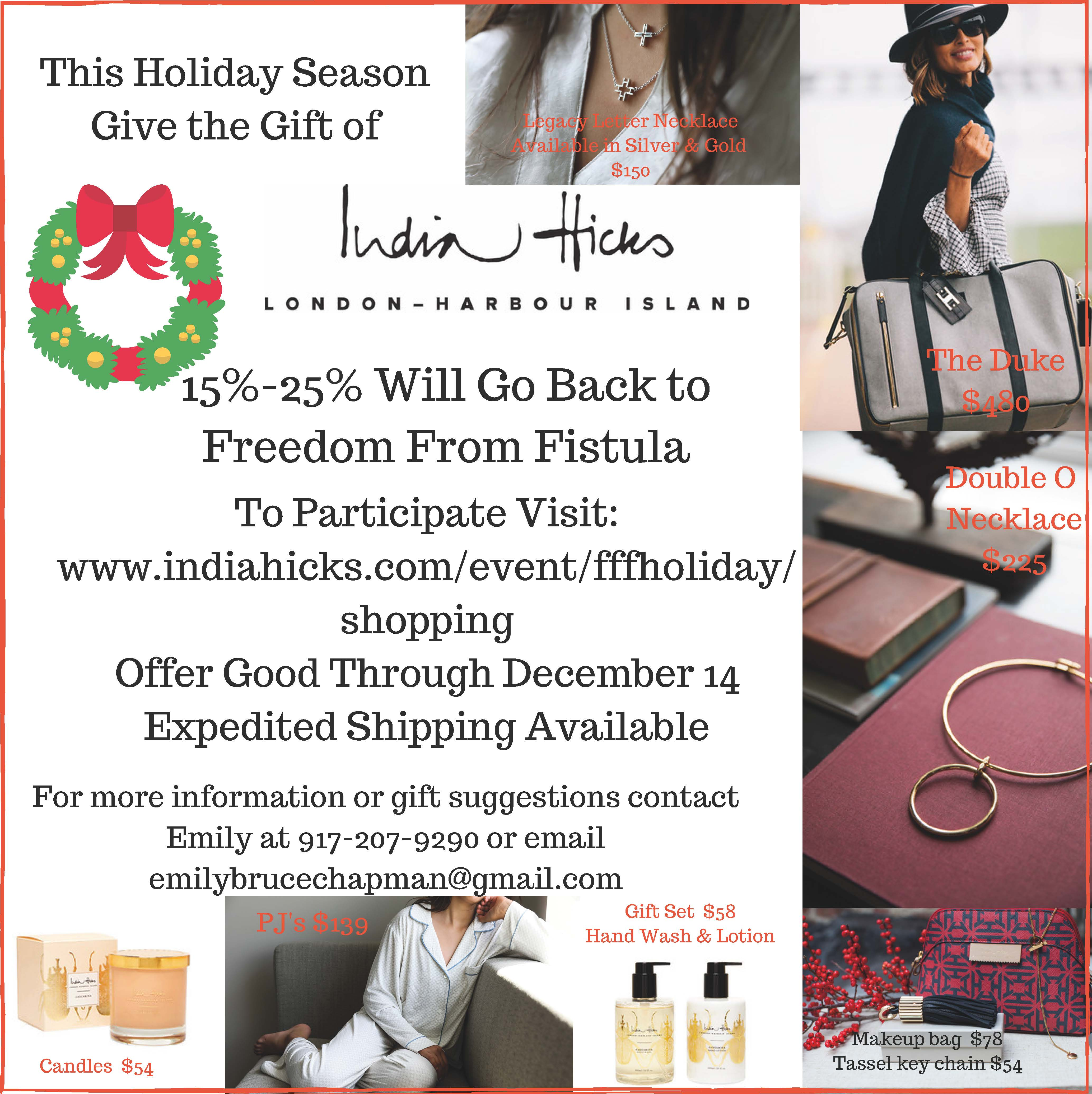 This Holiday Season give the gift of India Hicks